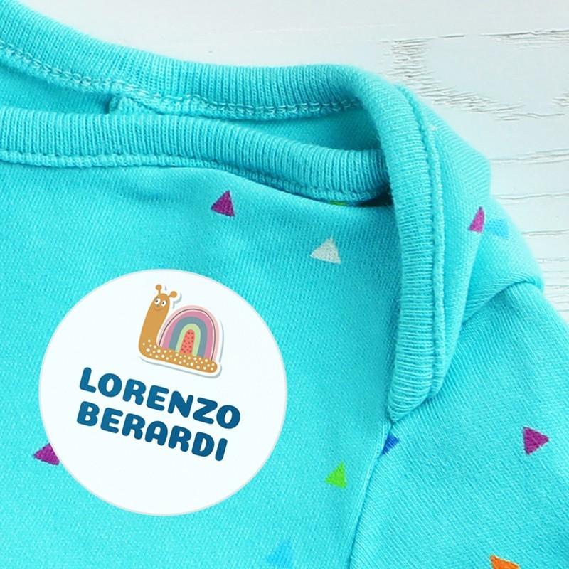 Etichette per vestiti scuola