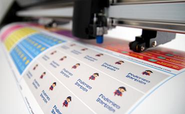 produzione etichette per la scuola
